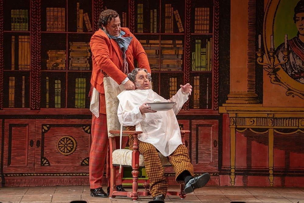 """Lucas Meachem, as Figaro in Rossini's """"Barber of Seville"""""""